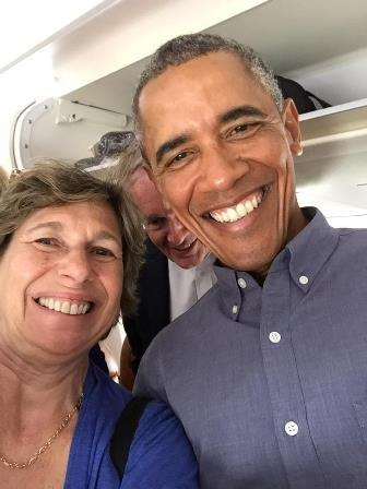 Weingarten and Obama selfie