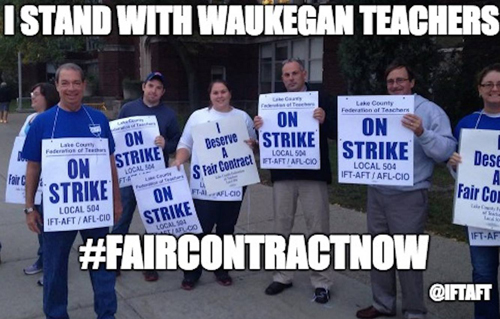 Waukegan strike solidarity